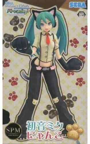 SEGA Hatsune Miku Figure Cat Ver. Project DIVA Arcade Future Tone Nyanko JAPAN