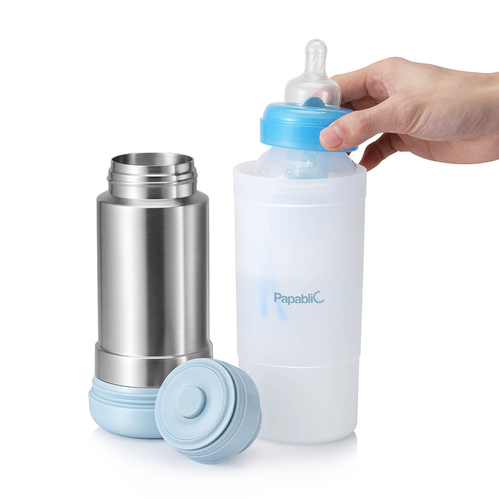 Papablic Mini Portable Travel Baby Bottle Warmer - Multi Function -  BPA Free