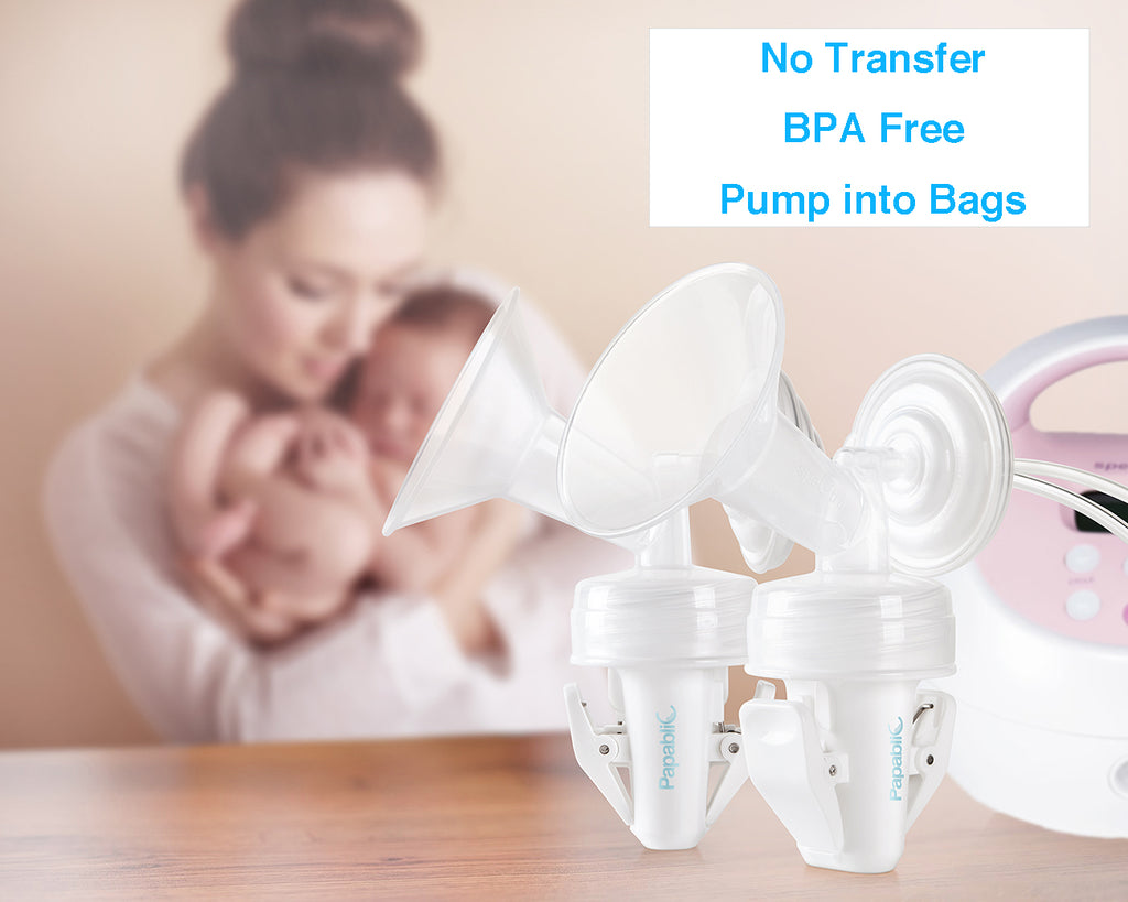 Papablic Breastmilk Storage Bag Adapters For Spectra S1 S2