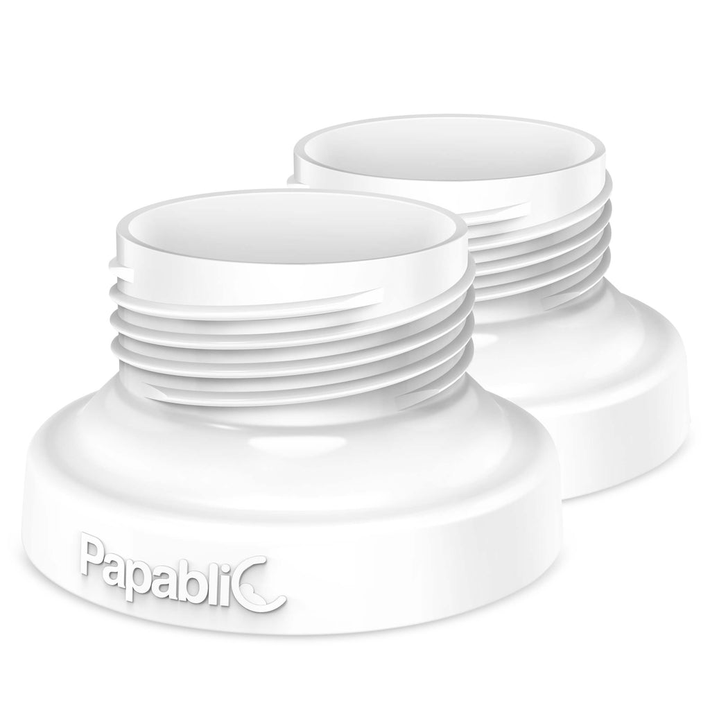Papablic Direct Pump Bottle Adapter, for Spectra S1 S2, Avent Breast Pumps to Use with Comotomo Baby Bottles, 2 Pack