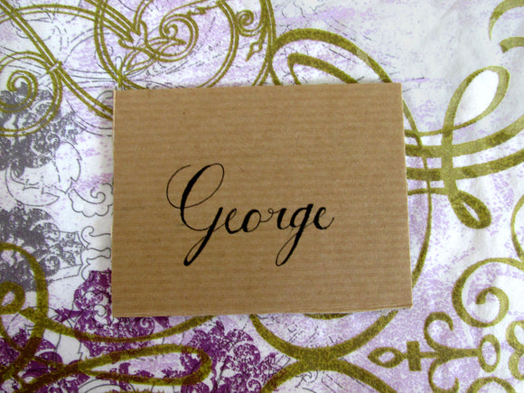 Handwritten Calligraphy Place Name Cards- Custom for Wedding, Parties or Events