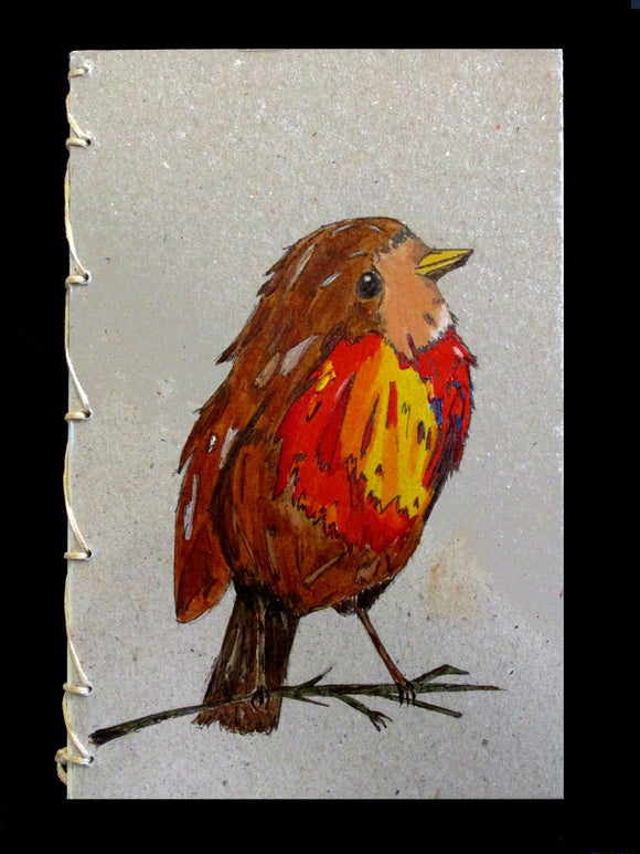 The Vibrant Robin Handmade and Hand-painted Goatskin© Parchment Paper Pad