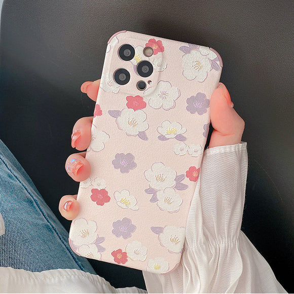 Cute Flower Silicone Soft iPhone Case