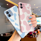 Matte Milk Cow Stripe Silicone Soft Phone Case Back Cover for iPhone 12 Pro Max/12 Pro/12/12 Mini/SE/11 Pro Max/11 Pro/11/XS Max/XR/XS/X/8 Plus/8/7 Plus/7