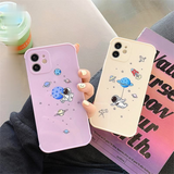Cute Cartoon Space Silicone Soft Phone Case Back Cover for iPhone 12 Pro Max/12 Pro/12/12 Mini/SE/11 Pro Max/11 Pro/11/XS Max/XR/XS/X/8 Plus/8/7 Plus/7