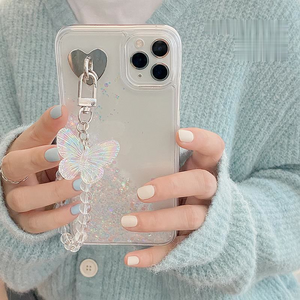 Shiny Butterfly Liquid Quicksand Soft iPhone Case