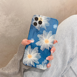 Artistic Flowers Silicone Soft Phone Case Back Cover for iPhone 12 Pro Max/12 Pro/12/12 Mini/SE/11 Pro Max/11 Pro/11/XS Max/XR/XS/X/8 Plus/8/7 Plus/7