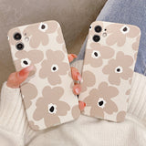 Fashion Flowers Silicone Soft iPhone Case