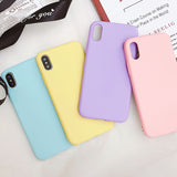Ladycases - Phone Case Expert - Candy Color Solid Silicone Phone Case Back Cover for iPhone SE/11 Pro Max/11 Pro/11/XS Max/XR/XS/X/8 Plus/8/7 Plus/7/6s Plus/6s/6 Plus/6