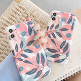 Cute Leaf Plant Soft Silicone Phone Case Back Cover for iPhone SE/11 Pro Max/11 Pro/11/XS Max/XR/XS/X/8 Plus/8/7 Plus/7