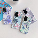 Laser Colorful Leaf Flower Soft Phone Case Back Cover for Samsung Galaxy S20 Ultra/S20 Plus/S20/S10E/S10 Plus/S10/S9 Plus/S9/S8 Plus/S8/Note 20 Ultra/Note 20/Note 10 Plus/Note 10