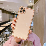 Solid Color Plated Soft Phone Case Back Cover for iPhone 12 Pro Max/12 Pro/12/12 Mini/SE/11 Pro Max/11 Pro/11/XS Max/XR/XS/X/8 Plus/8/7 Plus/7