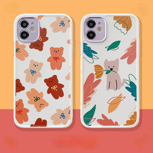 Cartoon Little Bear Silicone Soft Phone Case Back Cover for iPhone 12 Pro Max/12 Pro/12/12 Mini/SE/11 Pro Max/11 Pro/11/XS Max/XR/XS/X/8 Plus/8/7 Plus/7