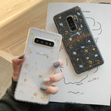Glitter Starry Sky Transparent Soft Silicone Phone Case Back Cover for Samsung Galaxy S20 Ultra/S20 Plus/S20/S10E/S10 Plus/S10/S9 Plus/S9/S8 Plus/S8/Note 10 Pro/Note 10