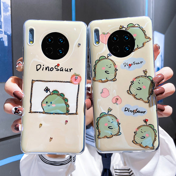 Cartoon Dinosaur Soft Phone Case Back Cover for Huawei Mate 40 Pro/Mate 40/Mate 30 Pro/Mate 30/P40 Pro/P40/P30 Pro/P30