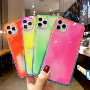 Gradient Luminous Liquid Quicksand Soft Phone Case Back Cover for iPhone 12 Pro Max/12 Pro/12/12 Mini/SE/11 Pro Max/11 Pro/11/XS Max/XR/XS/X/8 Plus/8/7 Plus/7