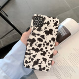 Cow Print Soft Phone Case Back Cover for iPhone 12 Pro Max/12 Pro/12/12 Mini/SE/11 Pro Max/11 Pro/11/XS Max/XR/XS/X/8 Plus/8/7 Plus/7