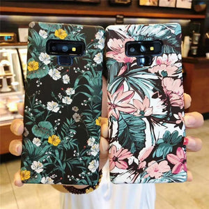 Ladycases - Phone Case Expert - Retro Flower Luminous Phone Case Back Cover for Samsung Galaxy S20 Ultra/S20 Plus/S20/S10E/S10 Plus/S10/S9 Plus/S9/S8 Plus/S8/Note 10 Pro/Note 10/Note 9/Note 8