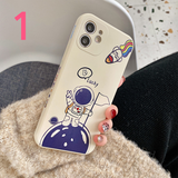 Cartoon Astronaut Silicone Soft Phone Case Back Cover for iPhone 12 Pro Max/12 Pro/12/12 Mini/SE/11 Pro Max/11 Pro/11/XS Max/XR/XS/X/8 Plus/8/7 Plus/7