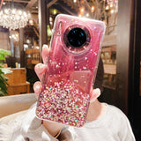 Glitter Sequins Transparent Soft Phone Case Back Cover for Huawei Mate 30 Pro/Mate 30/P40 Pro/P40/P30 Pro/P30
