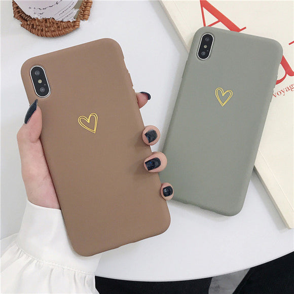 Ladycases - Phone Case Expert - Vintage Electroplate Hollow-Out Heart Phone Case Back Cover for iPhone SE/11 Pro Max/11 Pro/11/XS Max/XR/XS/X/8 Plus/8/7 Plus/7/6s Plus/6s/6 Plus/6