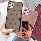 Ladycases - Phone Case Expert - Heart Mirror Acrylic Phone Case Back Cover for iPhone 11 Pro Max/11 Pro/11/XS Max/XR/XS/X/8 Plus/8/7 Plus/7