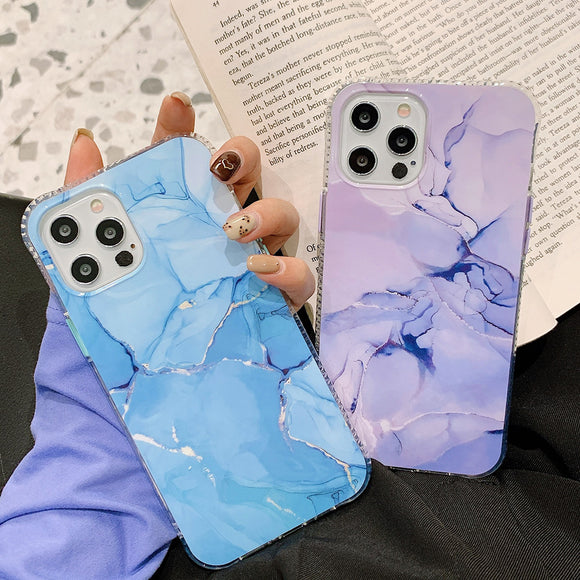 Vintage Gradient Marble Soft Phone Case Back Cover for iPhone 12 Pro Max/12 Pro/12/12 Mini/SE/11 Pro Max/11 Pro/11/XS Max/XR/XS/X/8 Plus/8/7 Plus/7