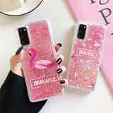 Glitter Sequins Flamingo Soft Phone Case Back Cover for Samsung Galaxy S20 Ultra/S20 Plus/S20/S10E/S10 Plus/S10/S9 Plus/S9/S8 Plus/S8/Note 20 Ultra/Note 20/Note 10 Plus/Note 10