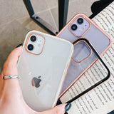 Luxury Electroplating Soft Phone Case Back Cover for iPhone SE/11 Pro Max/11 Pro/11/XS Max/XR/XS/X/8 Plus/8/7 Plus/7