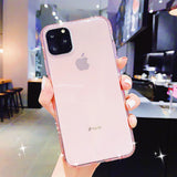 Ladycases - Phone Case Expert - Bling Rhinestone Clear Phone Case Back Cover for iPhone SE/11 Pro Max/11 Pro/11/XS Max/XR/XS/X/8 Plus/8/7 Plus/7