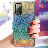 Glitter Diamond Gradient Rainbow Soft Phone Case Back Cover for Samsung Galaxy S20 Ultra/S20 Plus/S20/S10E/S10 Plus/S10/Note 20 Ultra/Note 20/Note 10 Plus/Note 10