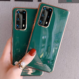 Ladycases - Phone Case Expert - Elegant Solid Color Soft Silicone Phone Case Back Cover for Samsung Galaxy S20/Plus/Ultra S10/Plus/ S9/Plus/ Note 10/Plus/9