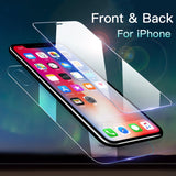 Ladycases - Phone Case Expert - Front+Back Tempered Glass Screen Protector for iPhone 11 Pro Max/11 Pro/11/XS Max/XR/XS/X/8 Plus/8/7 Plus/7/6s Plus/6s/6 Plus/6