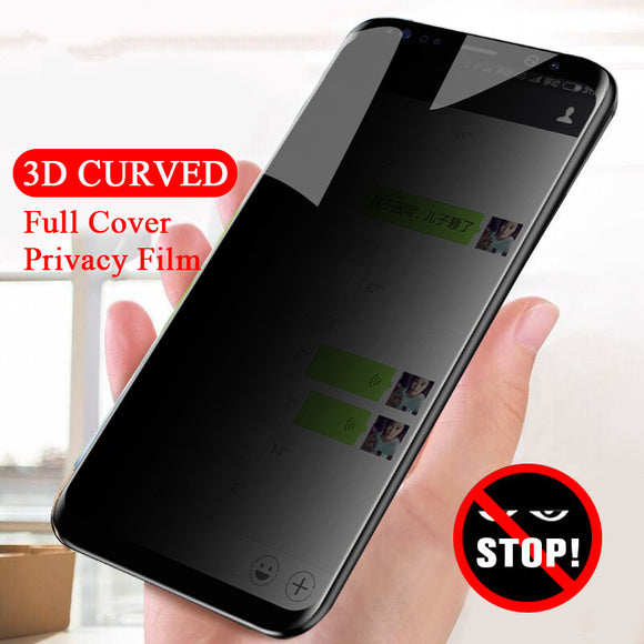 Ladycases - Phone Case Expert - 3D Curved Anti Spy Privacy Full Cover Tempered Glass Samsung Screen Protector for Samsung Galaxy S10E/S10 Plus/S10/S9 Plus/S9/S8 Plus/S8/Note 8/Note 9