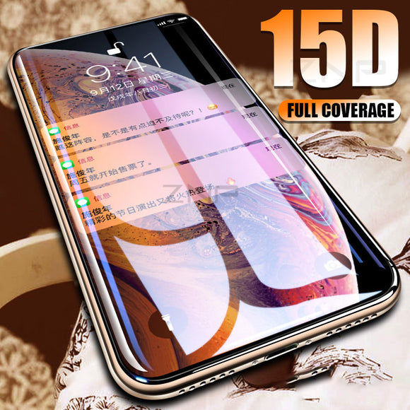 Ladycases - Phone Case Expert - 15D Curved Edge Tempered Glass Screen Protector for iPhone 11 Pro Max/11 Pro/11/XS Max/XR/XS/X/8 Plus/8/7 Plus/7/6s Plus/6s/6 Plus/6