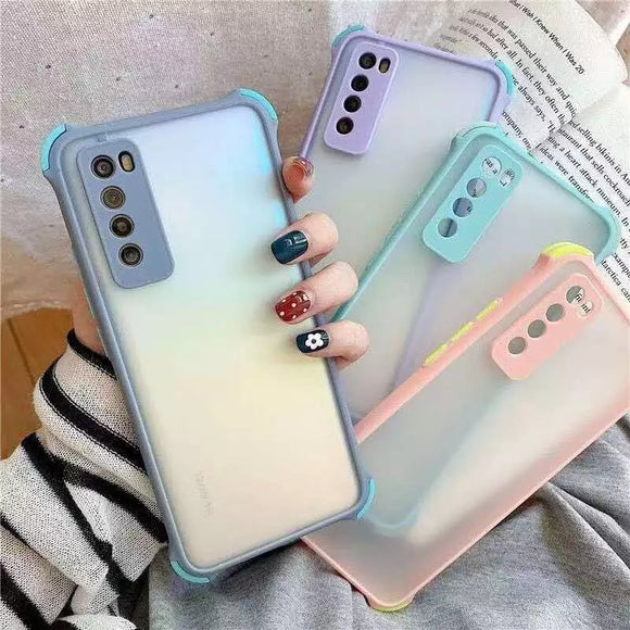 Candy Color Frame Matter Clear Soft Phone Case Back Cover for Samsung Galaxy S20 Ultra/S20 Plus/S20/S10E/S10 Plus/S10/S9 Plus/S9/S8 Plus/S8/Note 20 Ultra/Note 20/Note 10 Plus/Note 10