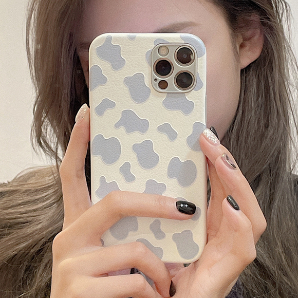 Anti-fall Cow Pattern Silicone Soft Phone Case Back Cover for iPhone 12 Pro Max/12 Pro/12/12 Mini/SE/11 Pro Max/11 Pro/11/XS Max/XR/XS/X/8 Plus/8/7 Plus/7