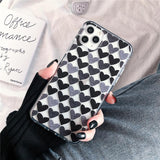 Retro Love Heart Clear Soft Phone Case Back Cover for iPhone SE/11 Pro Max/11 Pro/11/XS Max/XR/XS/X/8 Plus/8/7 Plus/7