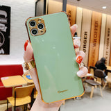 Solid Color Plating Edge Camera Lens Protector Phone Case Back Cover for iPhone SE/11 Pro Max/11 Pro/11/XS Max/XR/XS/X/8 Plus/8/7 Plus/7
