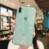 Ladycases - Phone Case Expert - Simple Multicolor Transparent Soft TPU Phone Case Back Cover for iPhone SE/11 Pro Max/11 Pro/11/XS Max/XR/XS/X/8 Plus/8/7 Plus/7/6s Plus/6s/6 Plus/6