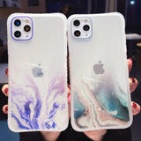 Gradient Marble Texture Glitter Transparent Soft Phone Case Back Cover for iPhone SE/11 Pro Max/11 Pro/11/XS Max/XR/XS/X/8 Plus/8/7 Plus/7