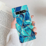 Ladycases - Phone Case Expert - Artistic Geometric Marble Texture Soft TPU Phone Case Back Cover for Samsung Galaxy S20 Ultra/S20 Plus/S20/S10E/S10 Plus/S10/S9 Plus/S9/S8 Plus/S8/Note 10 Pro/Note 10