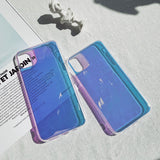 Rainbow Gradient Color Holographic Mirror Soft Phone Case Back Cover for iPhone 12 Pro Max/12 Pro/12/12 Mini/SE/11 Pro Max/11 Pro/11/XS Max/XR/XS/X/8 Plus/8/7 Plus/7