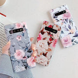 Ladycases - Phone Case Expert - Vintage Flower Phone Case Back Cover for Samsung Galaxy S20 Ultra/S20 Plus/S20/S10E/S10 Plus/S10/S9 Plus/S9/S8 Plus/S8/Note 10 Pro/Note 10