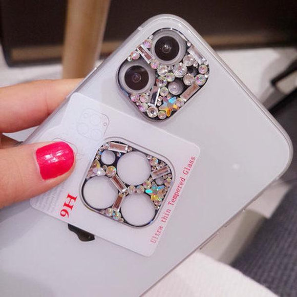 Ladycases - Phone Case Expert - Luxury Flash Rhinestone Camera Len Protector for iPhone 11/11 Pro/11 Pro Max