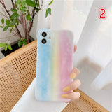 Gradient Colorful Rainbow Clound Camera Lens Protector Soft Silicone Phone Case Back Cover for iPhone 12 Pro Max/12 Pro/12/12 Mini/SE/11 Pro Max/11 Pro/11/XS Max/XR/XS/X/8 Plus/8/7 Plus/7