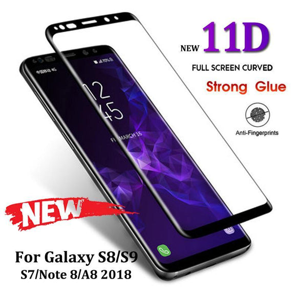 Ladycases - Phone Case Expert - 11D Full Protective Tempered Glass Screen Protector for Samsung Galaxy S10E/S10 Plus/S10/S9 Plus/S9/S8 Plus/S8/Note 8/Note 9