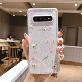 Real Dried Flower Transparent Soft Phone Case Back Cover for Samsung Galaxy S20 Ultra/S20 Plus/S20/S10E/S10 Plus/S10/S9 Plus/S9/Note 10 Pro/Note 10
