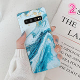 Ladycases - Phone Case Expert - Gradient Classical Marble Ocean Current Matte Soft Phone Case Back Cover for Samsung Galaxy S10E/S10 Plus/S10/S9 Plus/S9/S8 Plus/S8/Note9/Note8