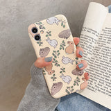Cute Rabbit Soft Phone Case Back Cover for iPhone 12 Pro Max/12 Pro/12/12 Mini/SE/11 Pro Max/11 Pro/11/XS Max/XR/XS/X/8 Plus/8/7 Plus/7